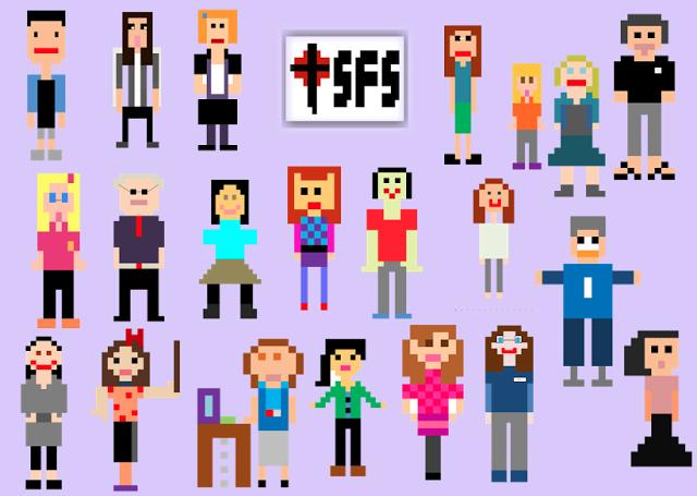 Pixel Characters Teachers