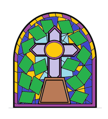 Coloured Stained Glass Window