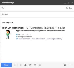Tserlin email signature