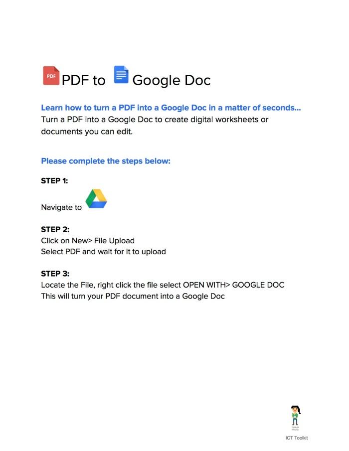 PDFtoGoogleDoc - ICTTOOLKIT.COM