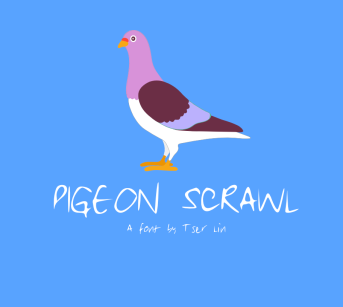 pigeon-scrawl-a-font-by-tser-lin